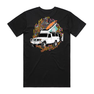 Troopy Tee - Black/Orange