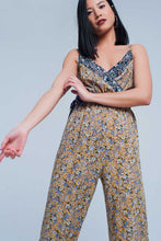 Load image into Gallery viewer, Floral Wrapped Jumpsuit