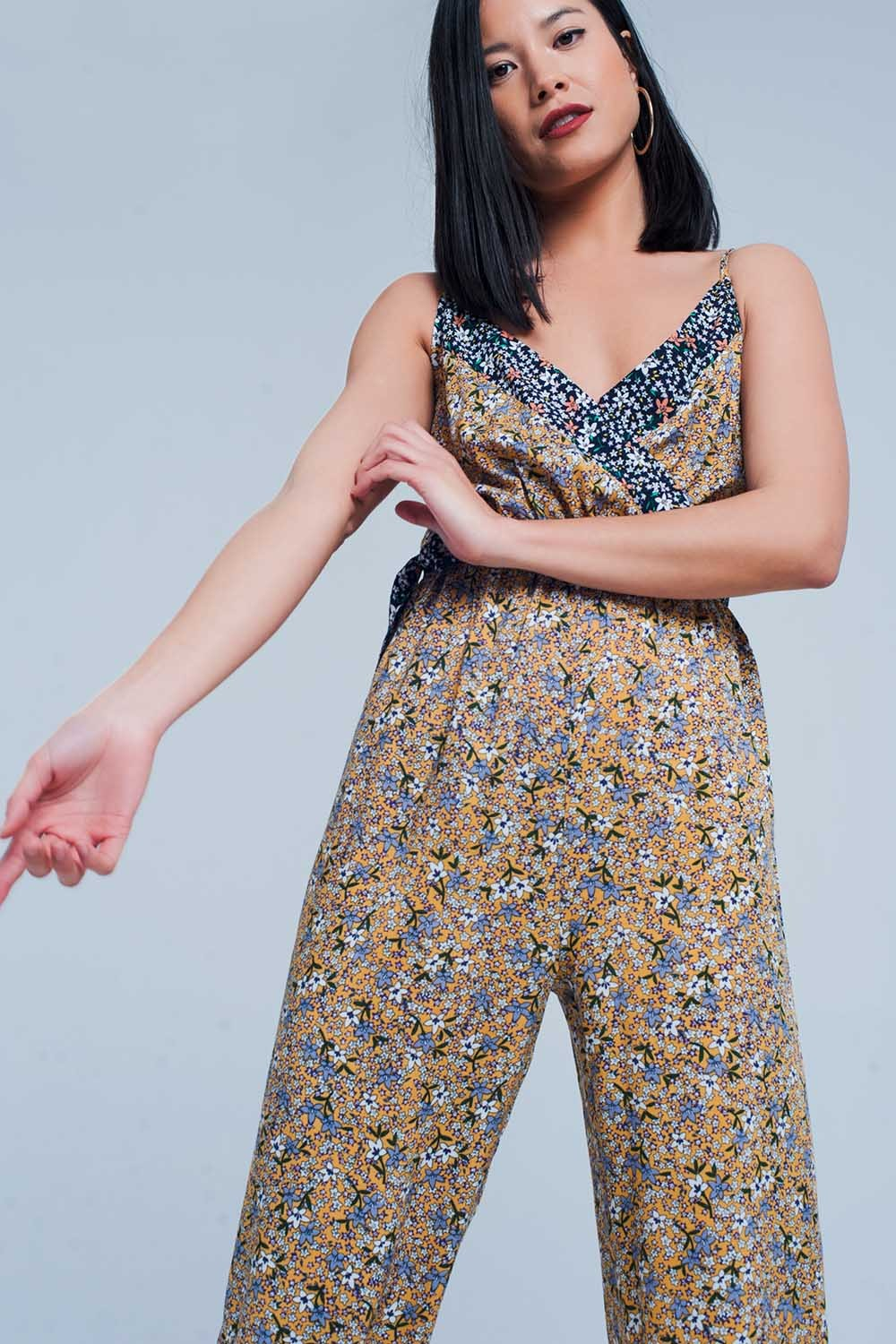Floral Wrapped Jumpsuit