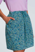 Load image into Gallery viewer, Floral Mini Skirt In Green