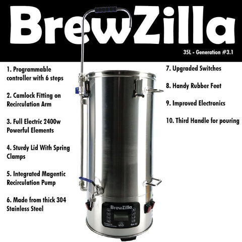 BREWZILLA GEN. 3.1 - SINGLE VESSEL BREWERY - 35 LITRE