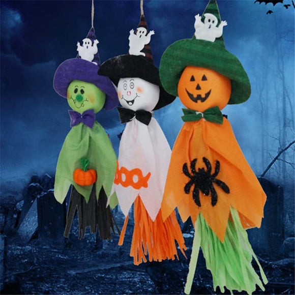 Halloween Ghost Hanging Pumpkin Doll