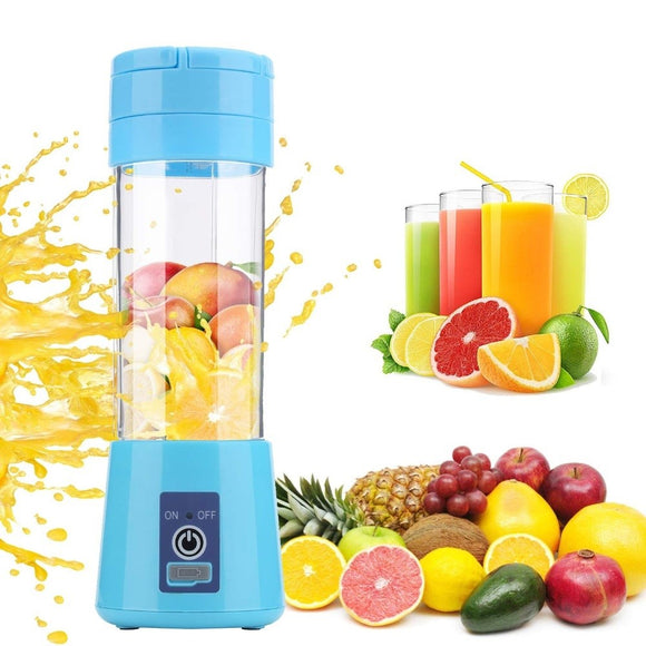 Portable Juicer 6 Blade Mini USB Rechargeable Electric Fruit Blender