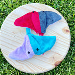 Load image into Gallery viewer, Purple & Blue Colorblock Stingray Plushie