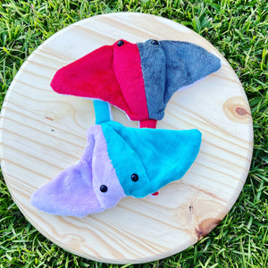 Purple & Blue Colorblock Stingray Plushie