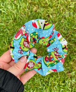 Avocado Christmas Scrunchie