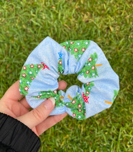 Blue Star Trees Scrunchie