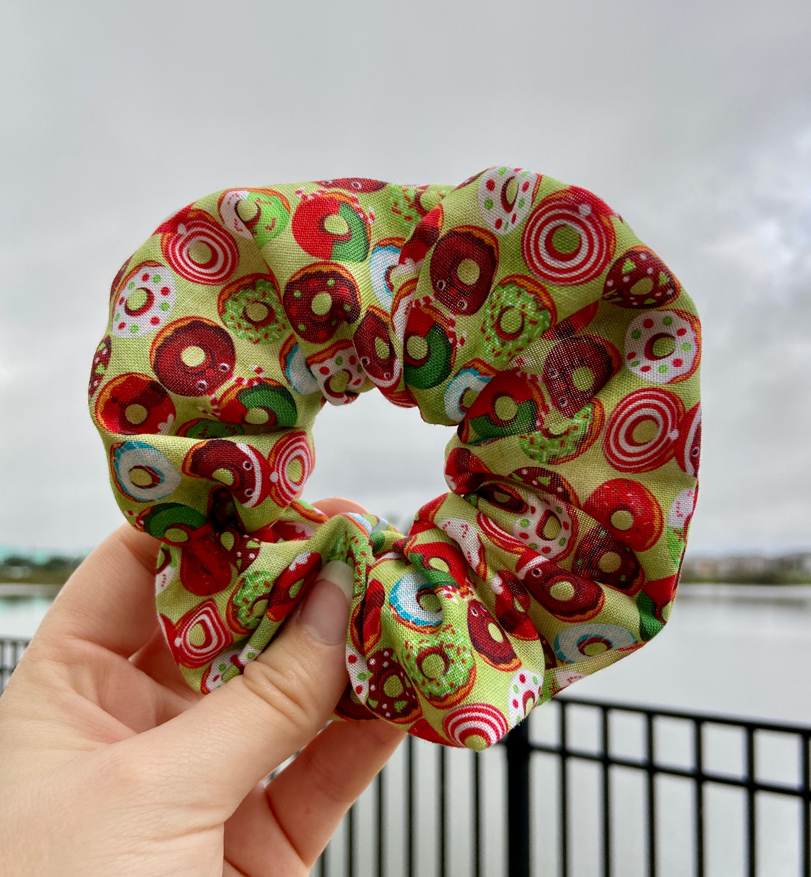 Holiday Donuts Scrunchie