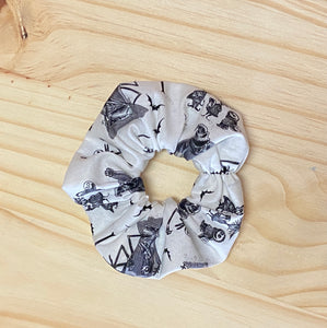 Nightmare Before Christmas Black & White Scrunchie