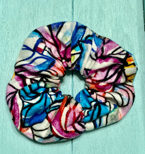 Water Color Flannel Scrunchie