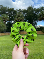Load image into Gallery viewer, Green Beetlejuice Scrunchie