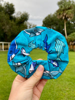 Load image into Gallery viewer, Moody Shark Scrunchie