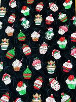 Load image into Gallery viewer, Winter Cupcakes Scrunchie