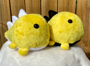 Yellow & Black Dino Plushie