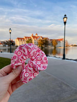 Load image into Gallery viewer, Pink Stitch Scrunchie