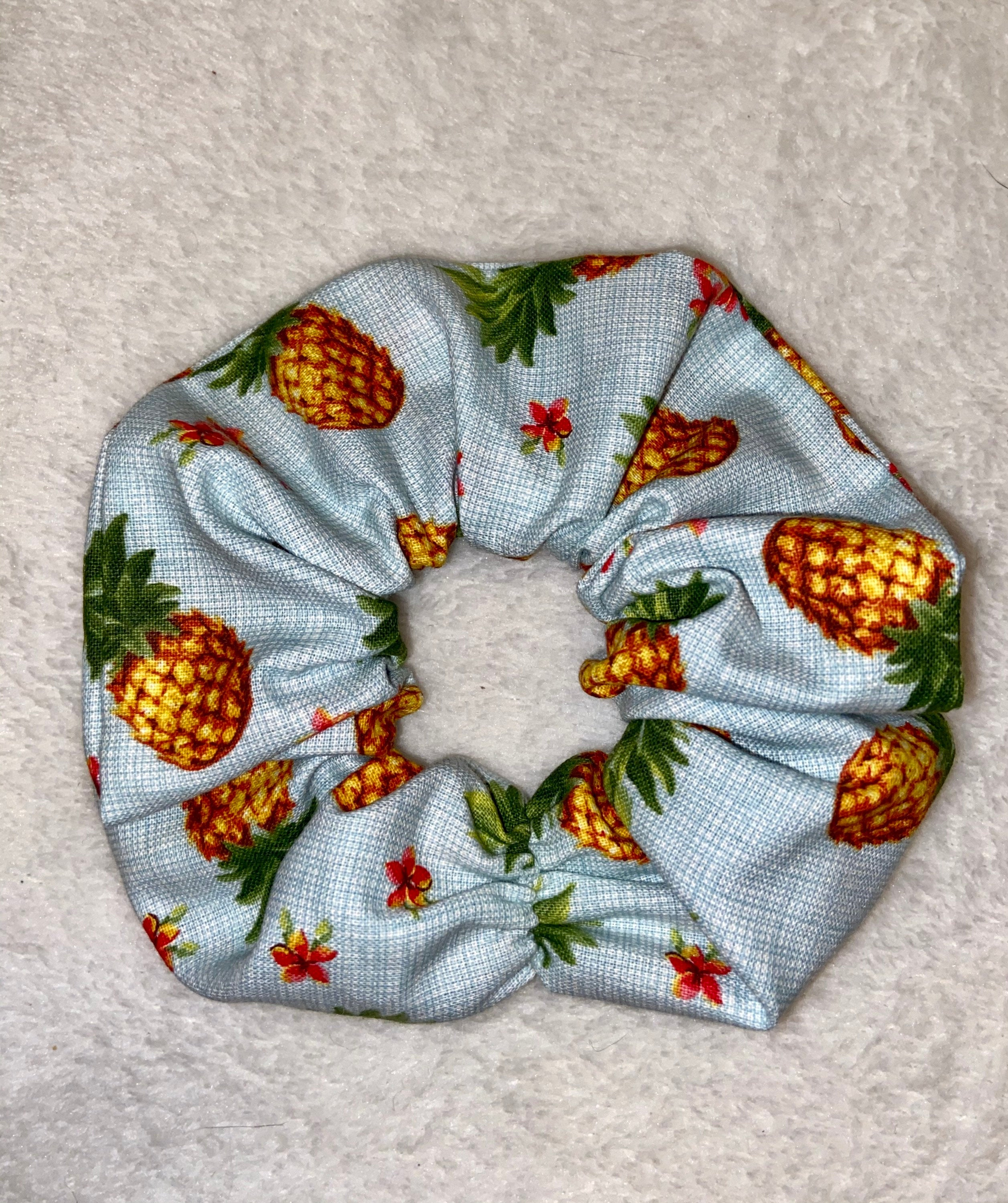 Tropical Pineapple Scrunchie