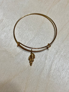 Conch Gold Plated Charm Bracelet
