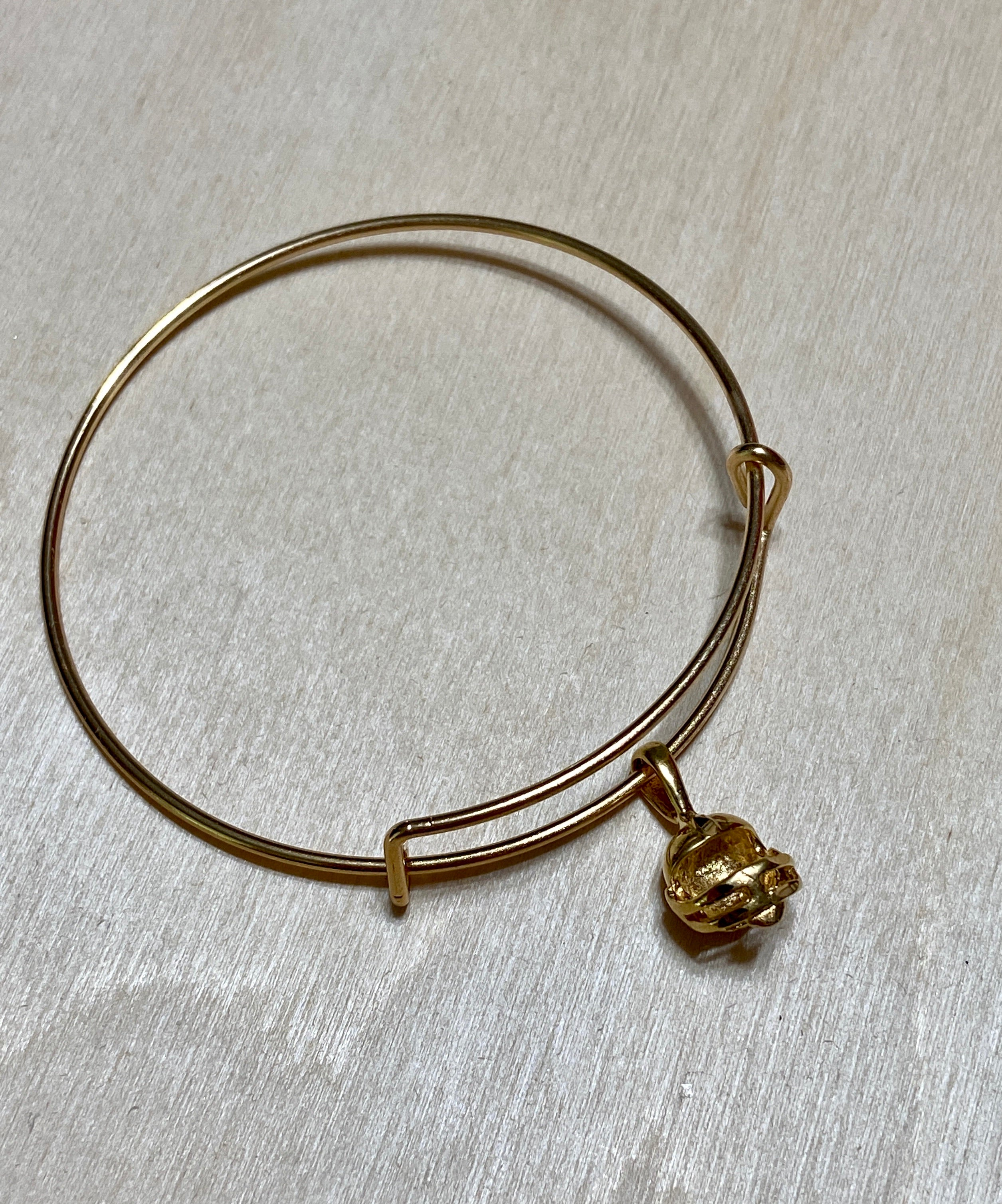 Football Gold Plated Charm Bracelet