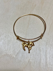 Horse Gold Plated Charm Bracelet
