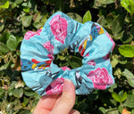 Load image into Gallery viewer, Floral Nightmare Before Christmas Scrunchie