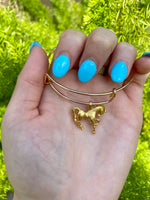 Load image into Gallery viewer, Horse Gold Plated Charm Bracelet