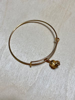 Load image into Gallery viewer, Football Gold Plated Charm Bracelet