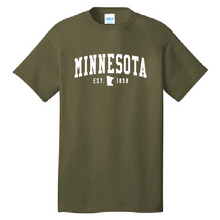 Load image into Gallery viewer, Minnesota EST. 1858 Hometown Short Sleeve  Unisex T-Shirt
