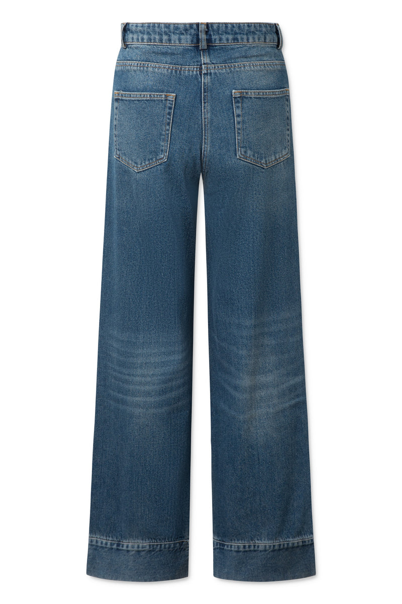 Harvey Pants - Heavy Washed Denim