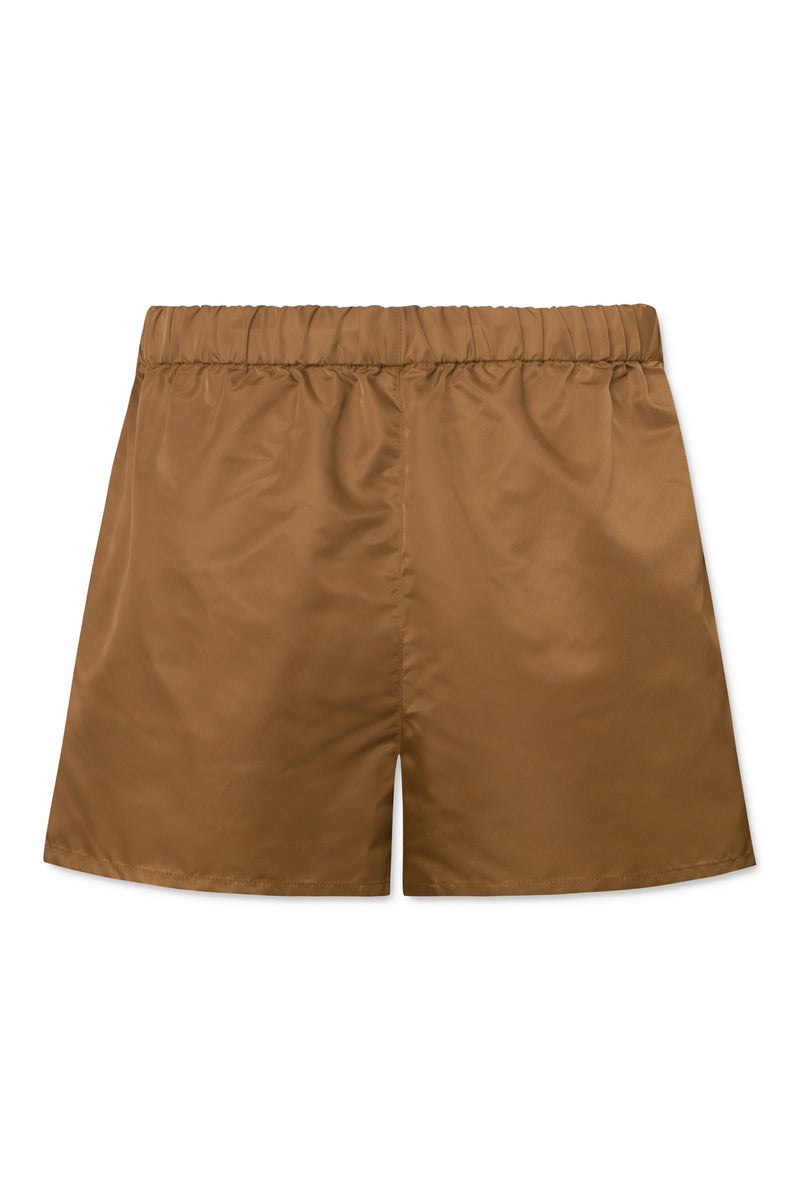 Alessio Nylon Shorts - Brown