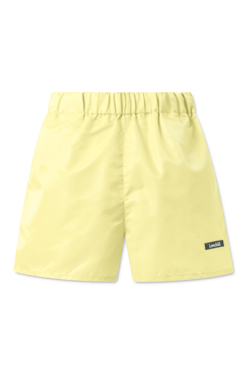 Alessio Nylon Shorts - Neon Yellow