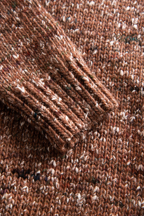 Alpha Pullover - Rust Brown