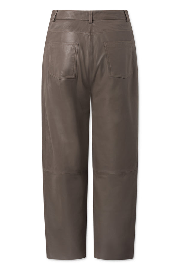 Aston Leather Pants - Walnut