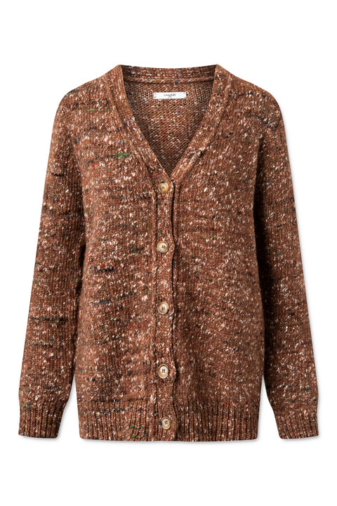 Bibi Cardigan - Rust Brown