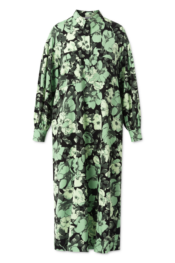 Carin Dress - Multi Green