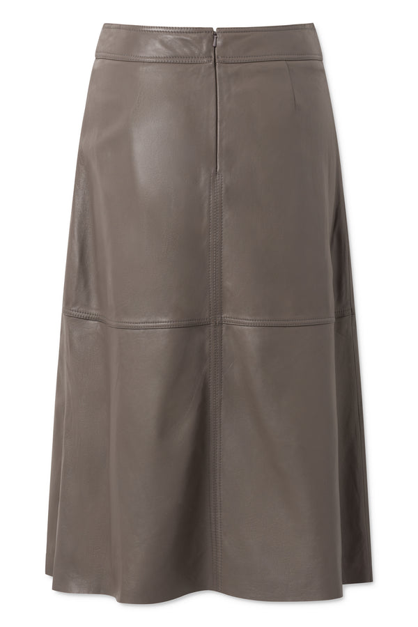 Eloise Leather Skirt - Walnut