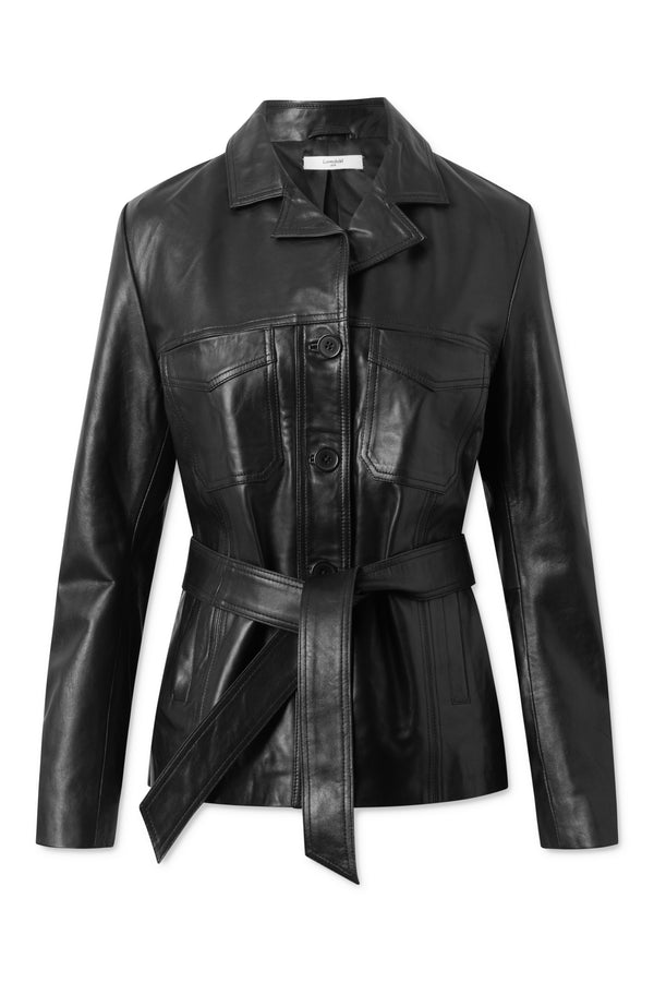 Ollie Leather Jacket - Black