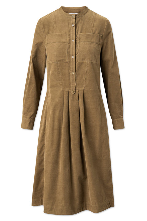 Paula Dress - Beech Olive Green