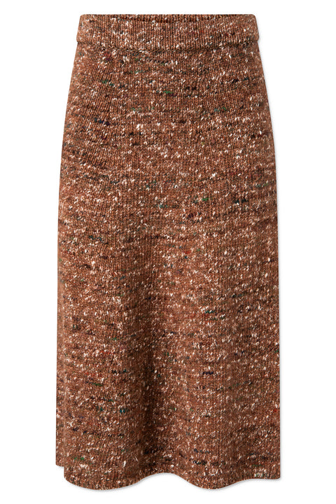 Shayla Skirt - Rust Brown