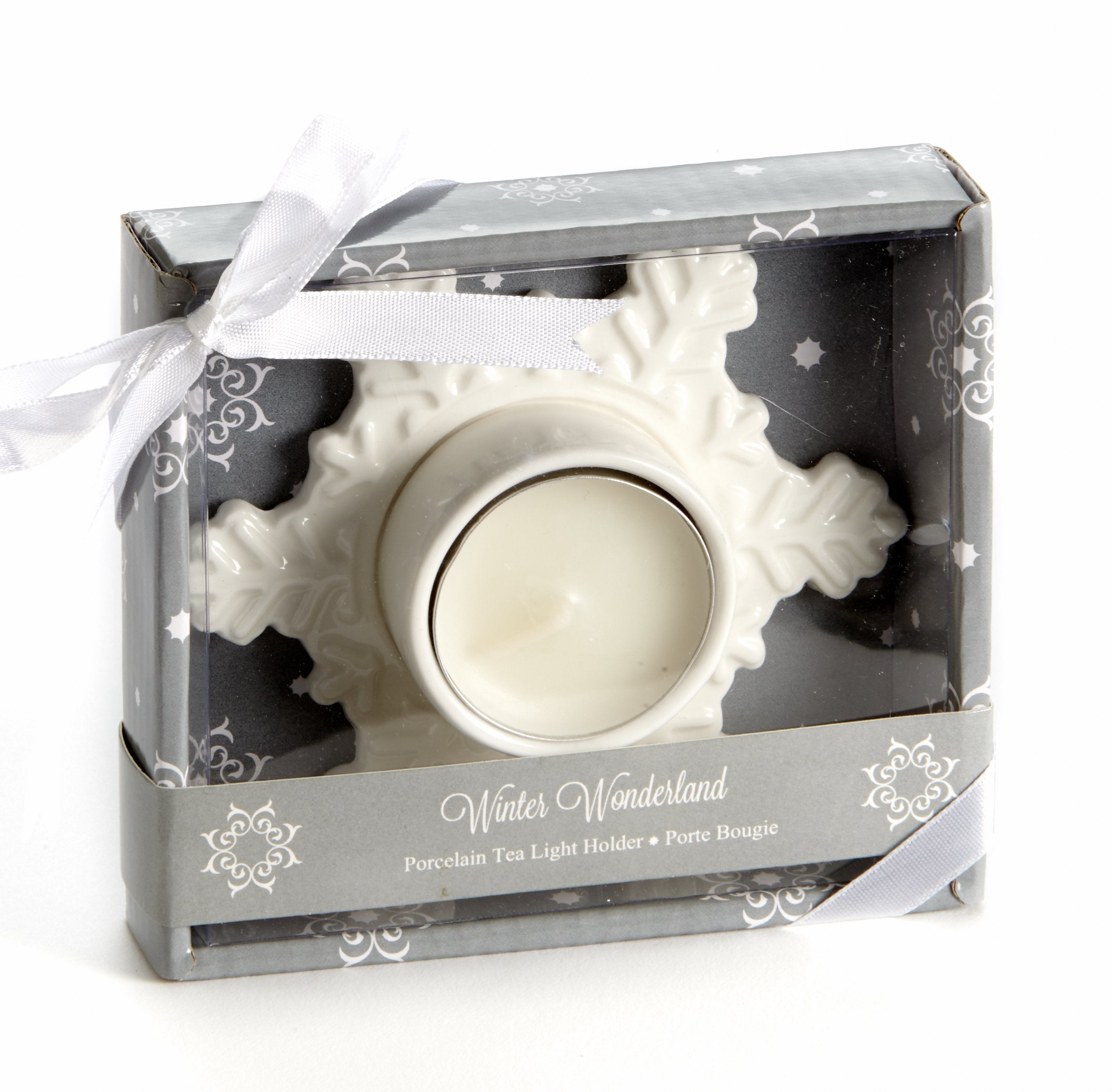 "A94041 - ""Winter Wonderland"" Porcelain Tea Light Candle Hold"