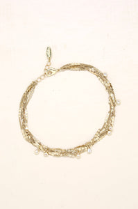 Favorite Souvenir Multi 18k Gold Plated Chain Anklet
