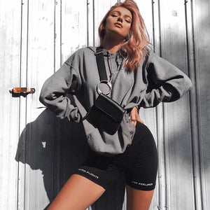 High Waist 2019  Fashionshorts women sexy biker shorts fitness korean casual sexy short cotton black Athleisure Cycling Shorts