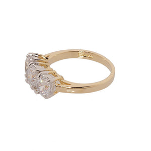 Classic Three Stone Cubic Zirconia Ring