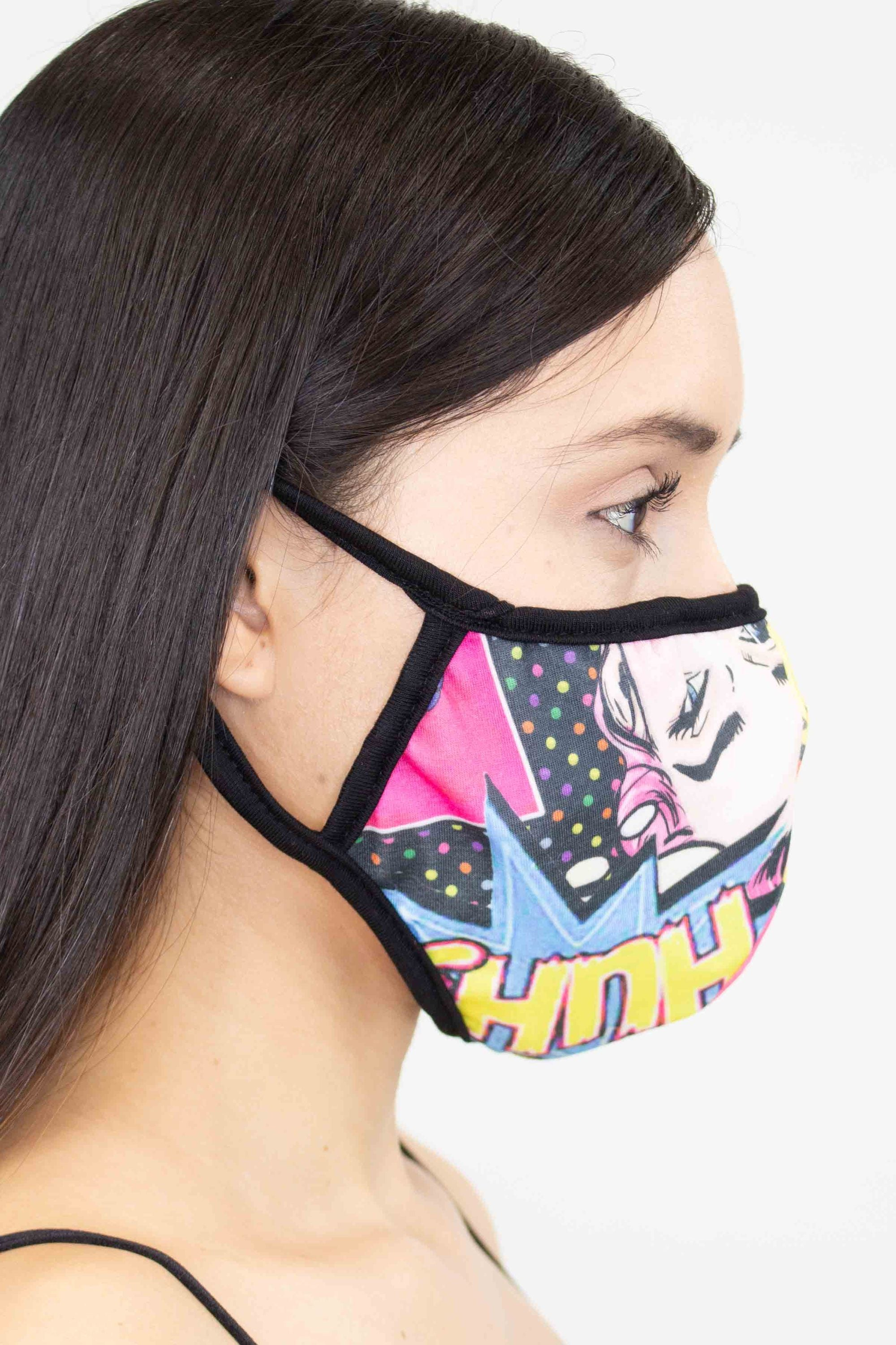 Cartoon Print Face Mask - Yellow