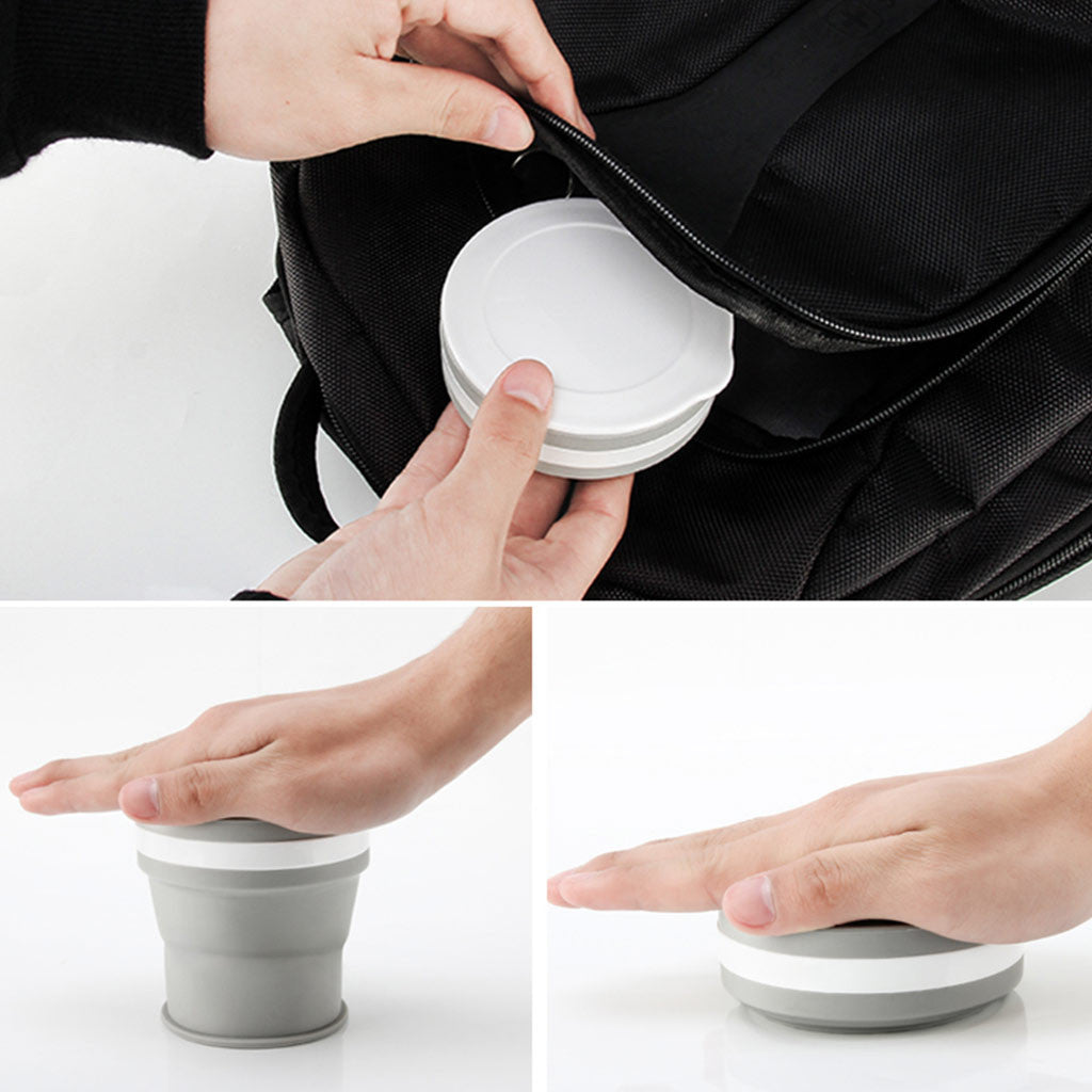 Retractable Silicone Travelling Cup