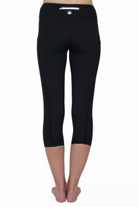 Black and Gray Weave - Pocket Capri - ON SALE