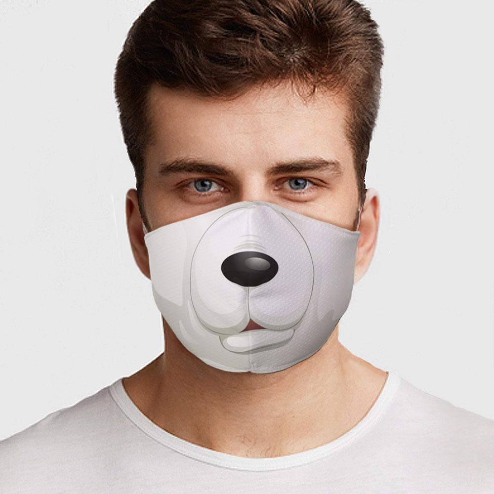 Polar Bear Face Cover