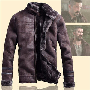Men Overcoat Streewear Mens Faux Fur Leather Jackets  Russian Style Winter Mens Fur Faux Fur Coats Thick Velvet Coat