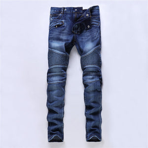 2020 New Dsel Brand Fashion Designer Jeans Men Straight Blue Color Printed Men Jeans Ripped Men Jeans!E988