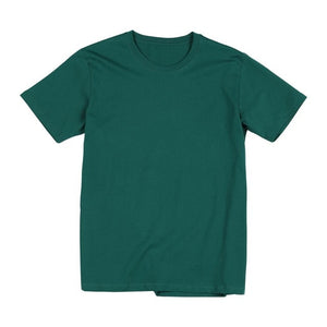SIMWOOD 2020 Summer new 100% cotton t-shirt men o-neck solid color t shirt basic tees plus size short sleeve tops 190402