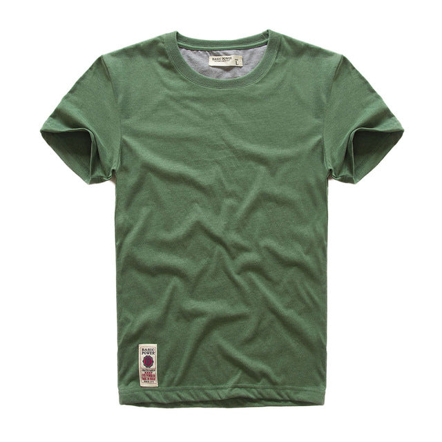 VOMINT New  Mens Short Sleeve T-shirt  Print T-Shirt Cotton Multi Pure Color Fancy Yarns T Shirt male color grey green lblue